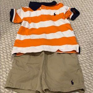 Ralph Lauren Shirt and shorts outfit, 9 months